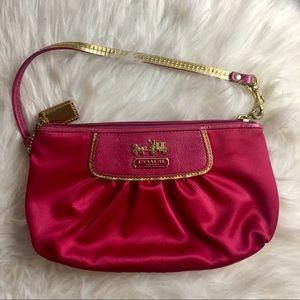 Coach Bags - Coach | Pink Satin Mini Bag!